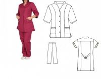 Купить Костюм для обслуживающего персонала ткань саржа х/б 20% пэ 80%,пл. 205г/м мод.28