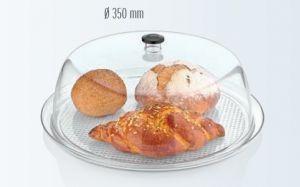 Купить Поднос прозрачный круглый с крышкой d-350*h-100мм поликарбонат Gastro Plast GFТ-13
