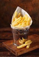 Купить ведерко для картошки фри пищевая нерж. сталь d вверху-10см d внизу-7,3см h- 9,5 см ~250мл цена от 50шт недорого.