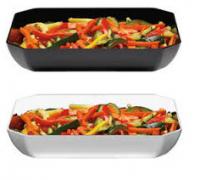 Купить Блюдо пластиковое восьмиугольное черное, белое 254x305x50мм 2,8л 01012BK