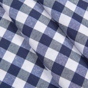 Купить Ткань клетка синяя шир.280см пл.150гр 50хб/50пэ Испания