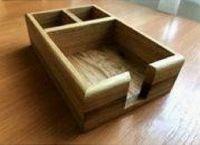 Купить Подставка деревянная для специй и салфеток на три отделения 200*135*56мм 25599