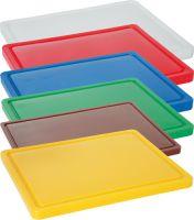 Купить Доска разделочная с канавкой желтая 500*400*20 мм Durplastics 9821