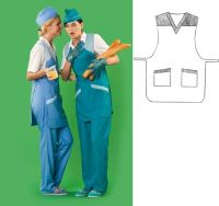 Купить Фартук-накидка продавца 90х60см ткань габардин 100%пэ пл. 200г/м мод.17