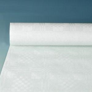 Купить Скатерть бумажная с тиснением 10м x 1.2м белая PapStar 18546