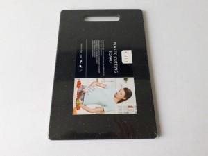 Купить Доска разделочная пластиковая 250*150*7мм черный мрамор 188-94