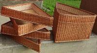 Купить комплект из угловых лотков плетеных из лозы 4шт*60х60-h-10см+1шт*60х60-h-40см недорого.