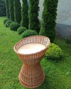 Купить Багетница из колотой лозы со скосом d-40*h-70/85см, глубина 15см