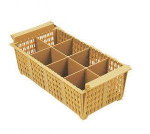 Купить Корзина для столовых приборов 8-отделений 430x205*h-140мм Hendi 871102