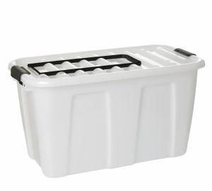 Купить Клипбокс ящик на колесах с ручкой 70л 715x392*h-393мм Plast Team 2229