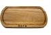 Фото Доска овальная для подачи шашлыка 400х200х20мм дуб #14753