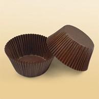 Купить Капсула бумажная круглая коричневая d-50*h-27мм 1000 шт/уп