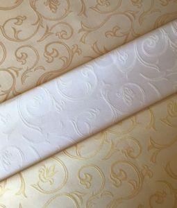Купить Ткань скатертная декоративная вензель шир.150см пл. 240гр 50%хб/50%пэ 10-200
