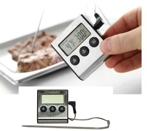 Купить Термометр для выпечки с зондом и таймером -50°C до +250°C 65x70*h-17мм Hendi 271346
