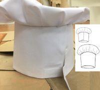 """Купить Колпак повара """"Высокий Гриб"""" ткань саржа х/б 20% пэ 80%,пл. 205г/м"""
