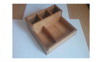 Купить Органайзер деревянный для столовых приборов,салфеток и спецовников 18х18*h-10*5см, ольха