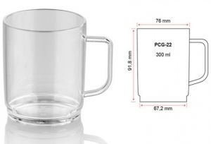 Купить Кружка чайная из поликарбоната 300мл PCG22