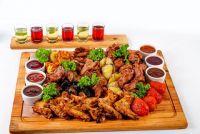 Купить доска деревянная для подачи блюда 400х300х20мм, дуб недорого.