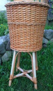 Купить Багетница плетеная из лозы цельная на подставке h-800мм d-450*h-400мм