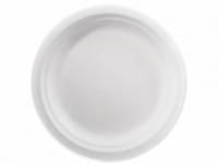 Купить Тарелка бумажная круглая белая 22см 125 шт/уп