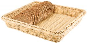 Купить Корзина плетеная пластиковая для хлеба GN1/2 325х265х65мм APS 40222