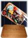 Фото Доска деревянная для подачи стейка с соусом 250*350*20мм дуб #11906