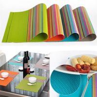 Купить Коврик для сервировки стола PVC 30х45см серый, салатовый, оранжевый