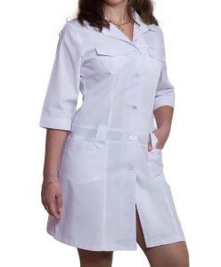 Купить Халат медицинский женский тк. 100% cotton 2111