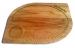 Фото Доска деревянная фигурная для подачи 350х250х20мм, дуб #10966