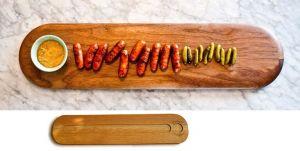 Купить Сервировочная доска для колбасы 700х140х20мм дуб