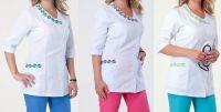 Купить Костюм медицинский женский с вышивкой тк.батист 2258
