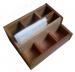 Фото Органайзер деревянный для столовых приборов,салфеток и спецовников 18х18*h-10*5см, ольха #12628