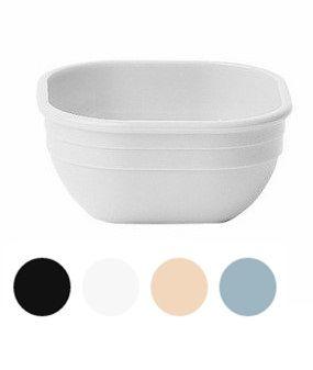 Купить Салатник белый из поликарбоната квадратный 280мл 105х105*h-48мм 10CW