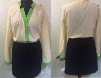 Купить Блузка женская с отделкой ткань универсал 20%х/б*80%пэ пл. 110г/м2
