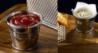 Купить Ведерко для соуса пищевая нерж. сталь d вверху-5,5см d внизу-4см h- 5,5 см ~80мл Цена от 50шт
