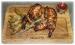 Фото Доска деревянная для подачи стейка с соусом 250*350*20мм дуб #9869