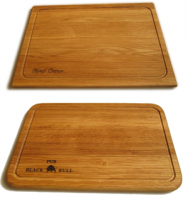 Купить Доска деревянная для подачи блюд с канавкой 200х300х16мм дуб, ясень