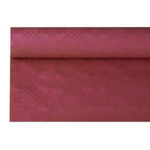 Купить Скатерть бумажная с тиснением 6м x 1.2м бордо PapStar 85472