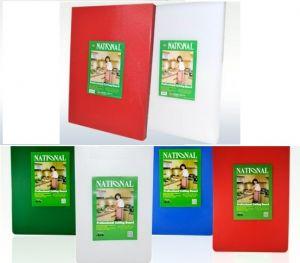 Купить Доска разделочная пластиковая 400*300*15 мм красная, белая, желтая, зеленая, синяя 180-95