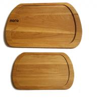 Купить Доска деревянная овальная для подачи мяса 300х450х20мм дуб, ясень с обработкой