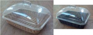 Купить Корзина для выпечки с крышкой 400*300*h-80мм с металлическим каркасом внутри