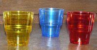 Купить Стакан стеклопластик 200мл 50шт/уп зеленый, оранжевый, синий,желтый, красный Украина
