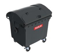 Купить Евроконтейнер для ТБО 1100л пластиковый с купольной крышкой и опцией крышка в крышке SULO Германия