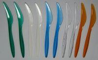 Купить Нож прозрачный стеклоподобный 190мм прозрачный, белый, желтый, оранжевый, синий, красный, зеленый 1000шт/уп