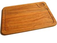 Купить Доска деревянная для подачи стейка с соусом 250*350*20мм дуб
