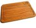 Фото Доска деревянная для подачи стейка с соусом 250*350*20мм дуб #12760