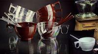 Купить Чашка кофейная PS/PP 150мл 680шт/уп коричневая, белая, прозрачная