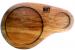Фото Доска деревянная для подачи бургера с напитком 280х80х20мм дуб #10963