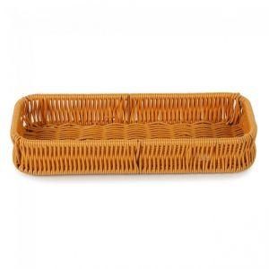 Купить Корзина для столовых приборов плетеная пластиковая 270х100х40 мм 73-02