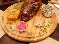 Купить Доска сервировочная для подачи мяса d-250*22мм дуб